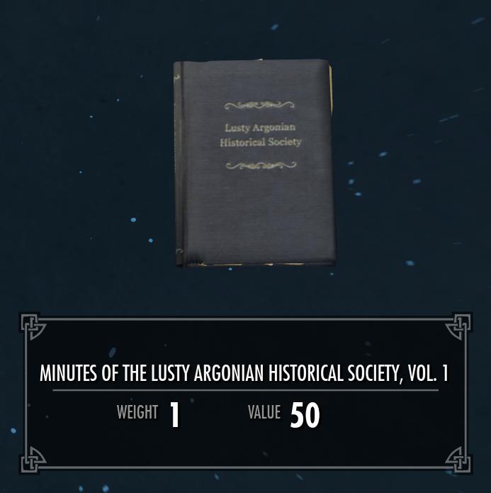 Lusty Argonian Maid Historical Society, Vol. 1