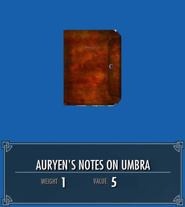 Auryen's Notes on Umbra