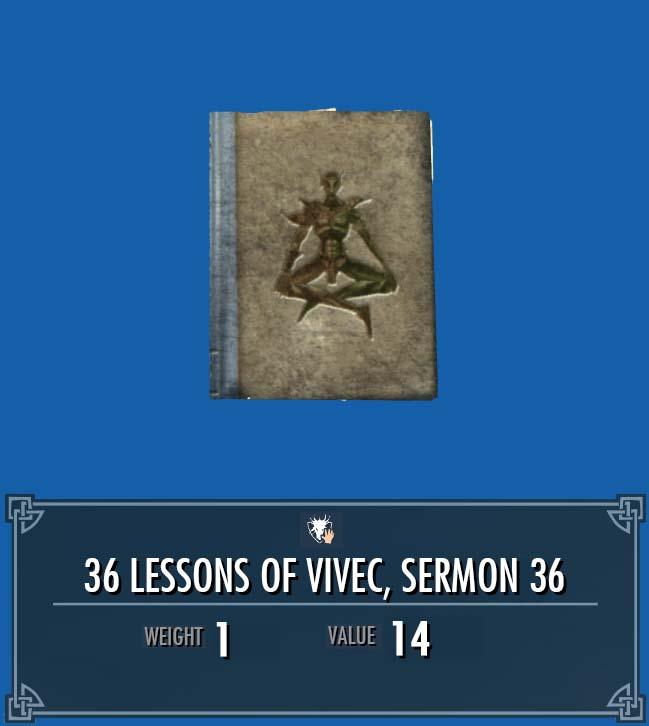 36 Lessons of Vivec, Sermon 36