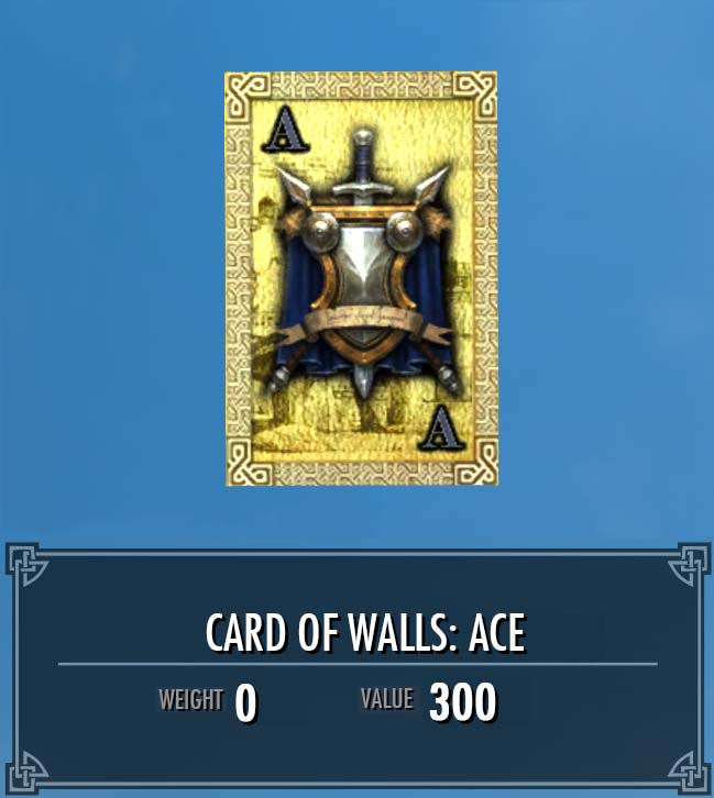 Card of Walls: Ace