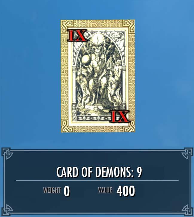 Card of Demons: 9
