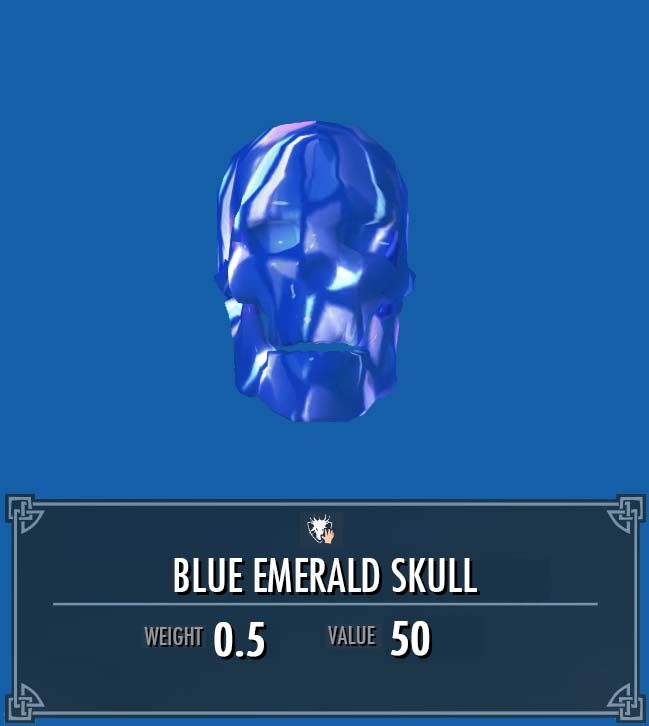 Blue Emerald Skull