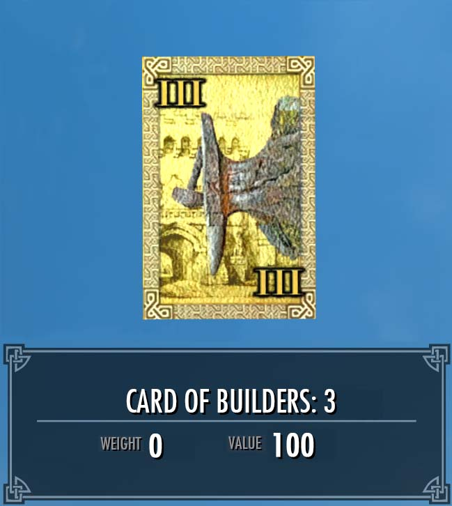 Card of Builders: 3