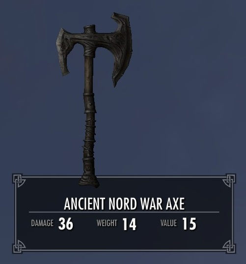 Ancient Nord War Axe