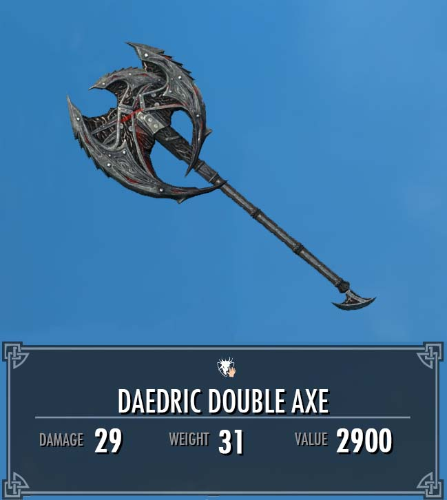 Daedric Double Axe