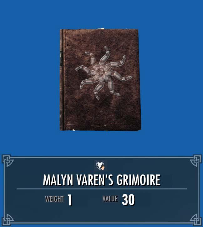 Malyn Varen's Grimoire