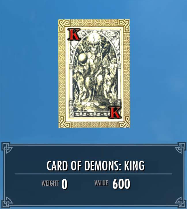 Card of Demons: King