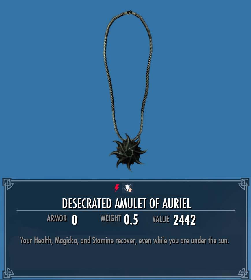 Desecrated Amulet of Auriel