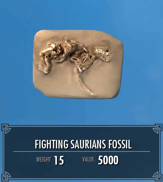 Fighting Saurians Fossil