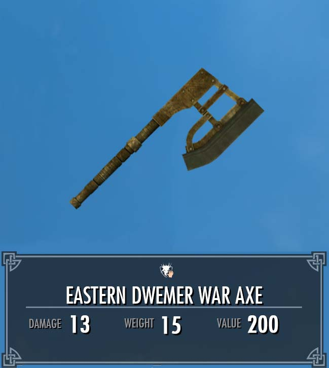 Eastern Dwemer War Axe