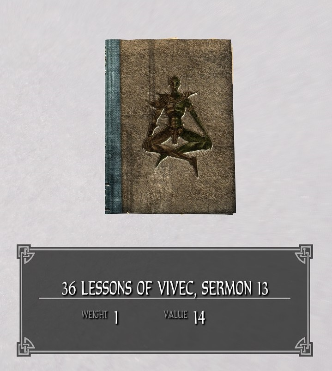 36 Lessons of Vivec, Sermon 13