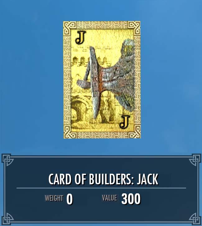 Card of Builders: Jack