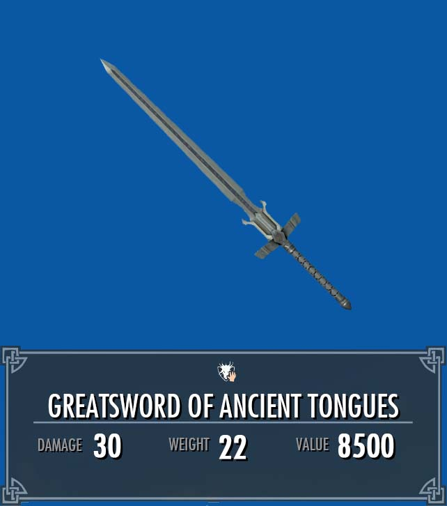 Greatsword of Ancient Tongues