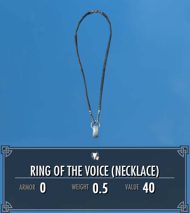 Ring of the Voice (Necklace)