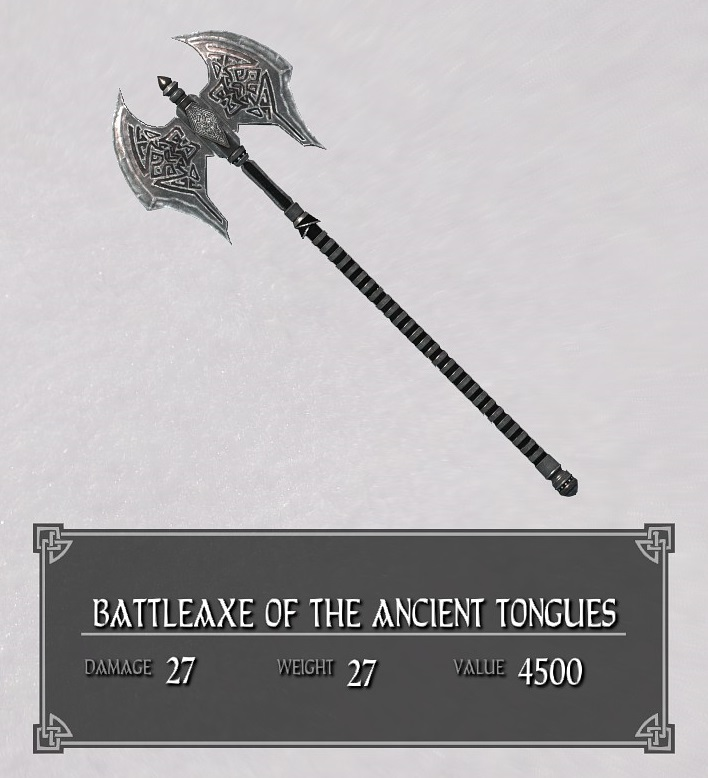 Battleaxe of the Ancient Tongues
