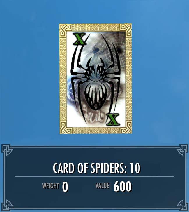 Card of Spiders: 10