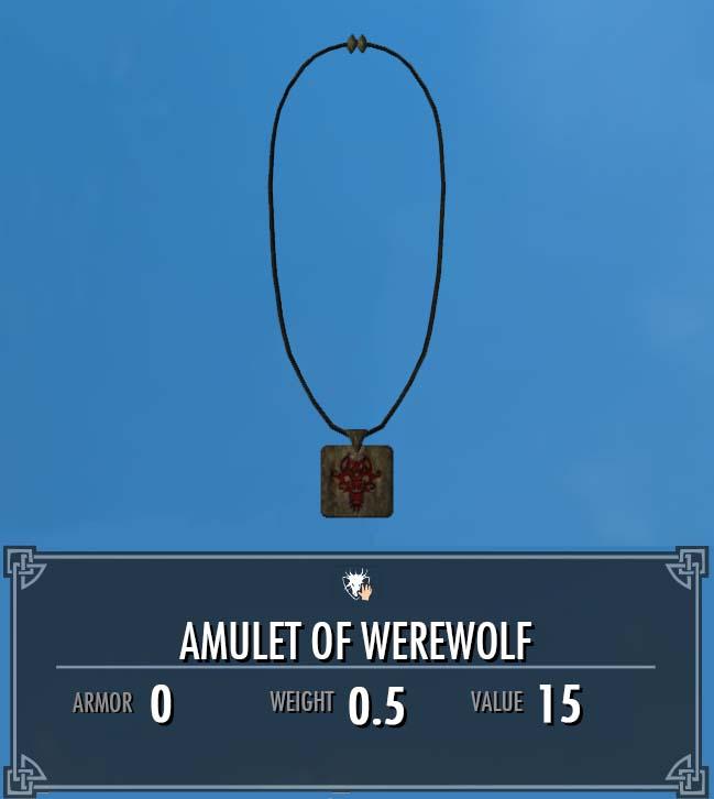 Amulet of Werewolf