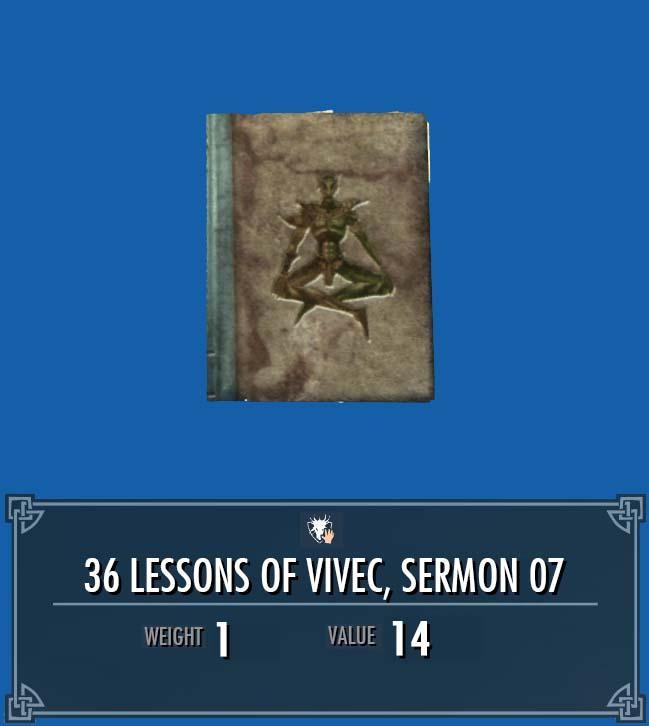 36 Lessons of Vivec, Sermon 07