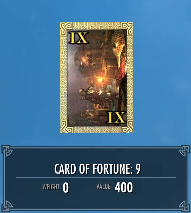Card of Fortune: 9