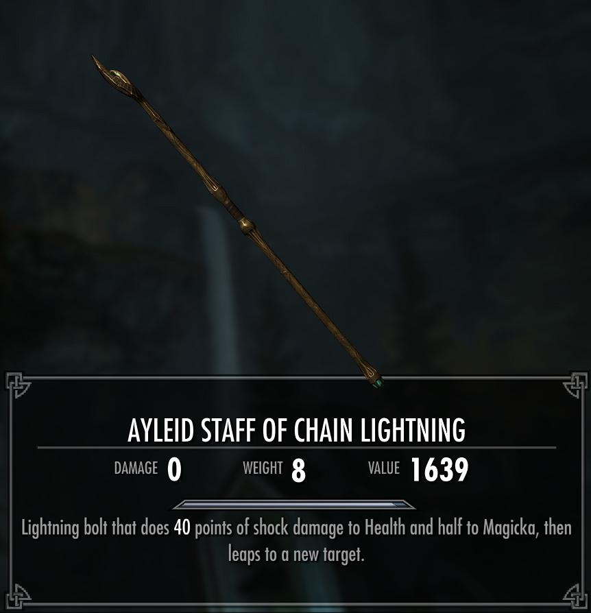 Ayleid Staff of Chain Lightning