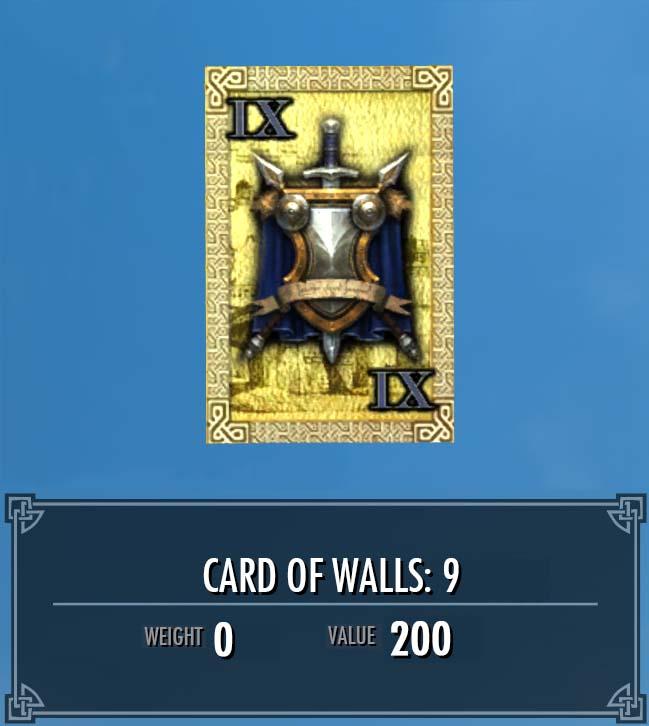 Card of Walls: 9