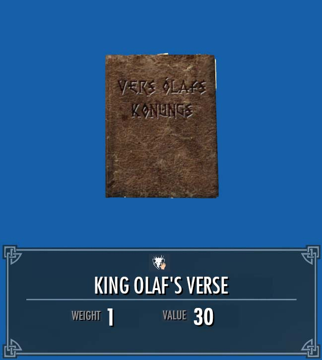 King Olaf's Verse
