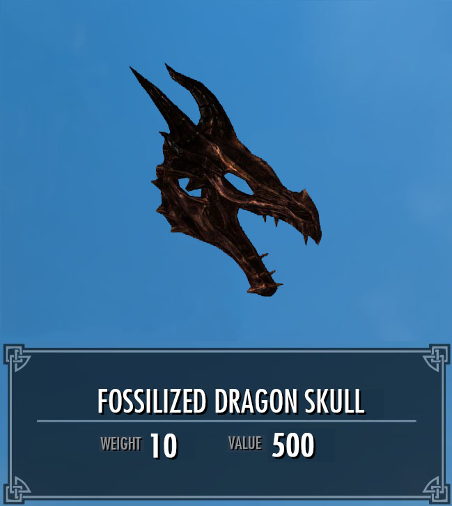 Fossilized Dragon Skull