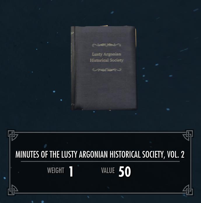 Lusty Argonian Maid Historical Society, Vol. 2