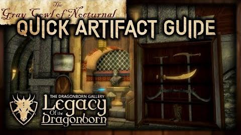 """(LOTD) Full Artifact Display Guide! - """"The Gray Cowl of Nocturnal"""" - Skyrim SE (Legacy)"""