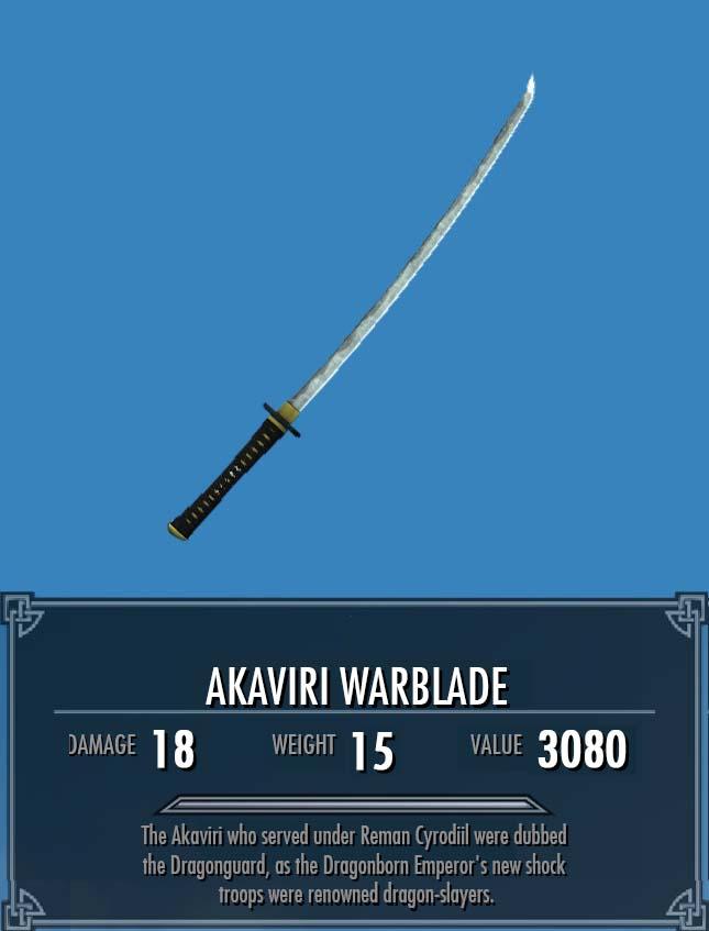 Akaviri Warblade
