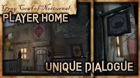 """""""Black Mesa Inn"""" Dialogue and """"Ben Erai"""" Player Home! - """"Gray Cowl of Nocturnal"""" - Skyrim SE"""