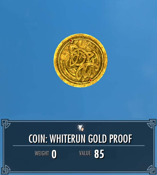 Coin: Whiterun Gold Proof