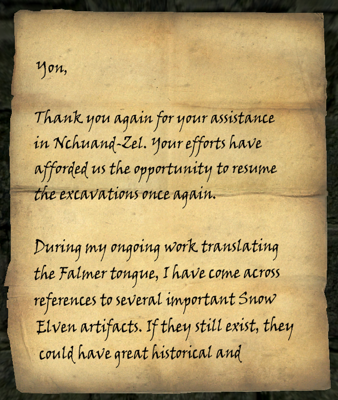 A Note from Calcelmo of Markarth