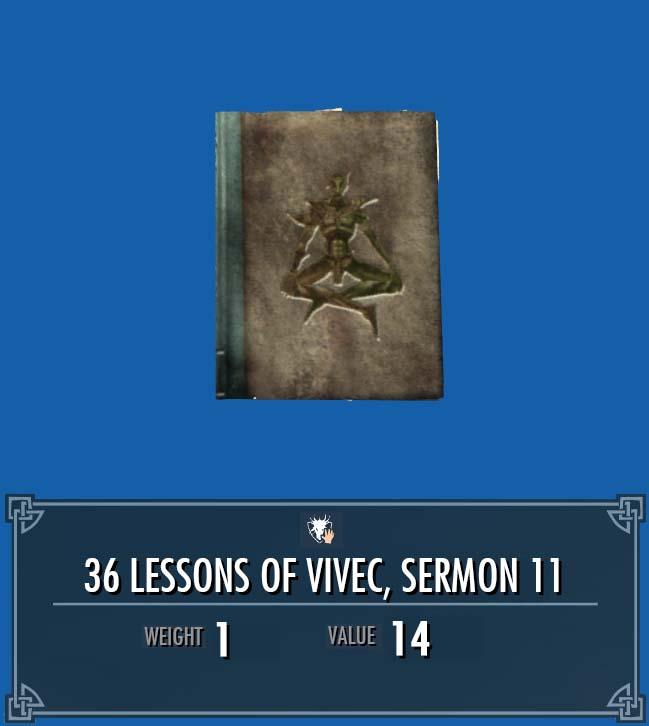 36 Lessons of Vivec, Sermon 11