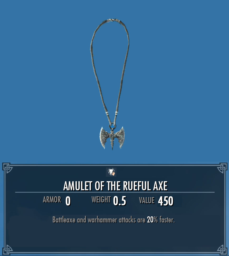 Amulet of the Rueful Axe