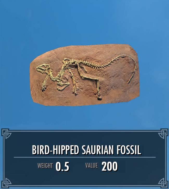 Bird-Hipped Saurian Fossil