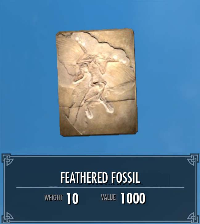 Winged Saurian Fossil