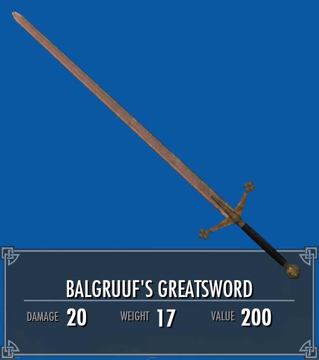 Balgruuf's Greatsword