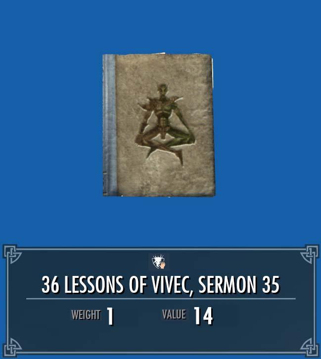 36 Lessons of Vivec, Sermon 35