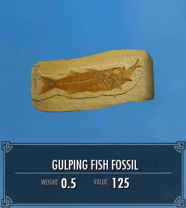 Gulping Fish Fossil