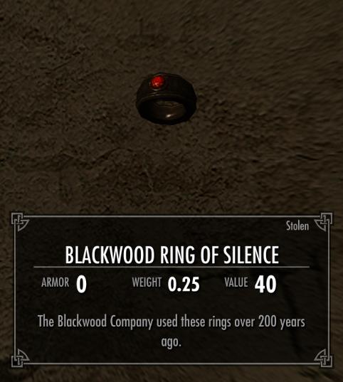 Blackwood Ring of Silence
