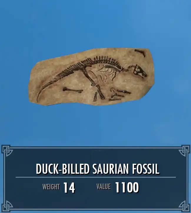 Duck-Billed Saurian Fossil