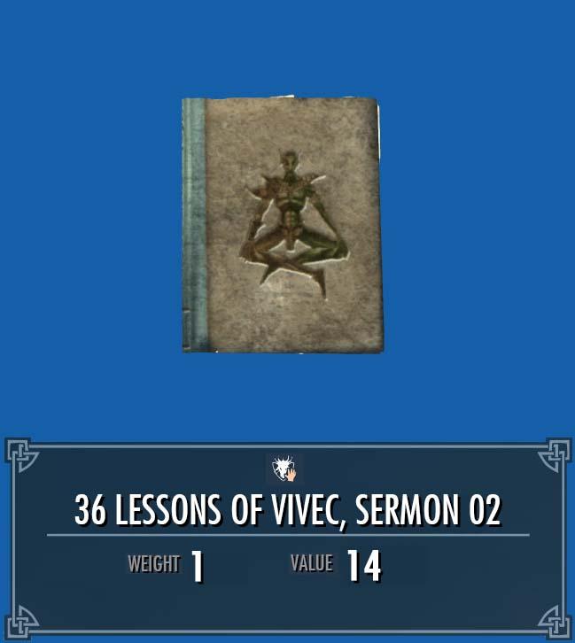 36 Lessons of Vivec, Sermon 02
