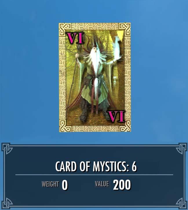 Card of Mystics: 6