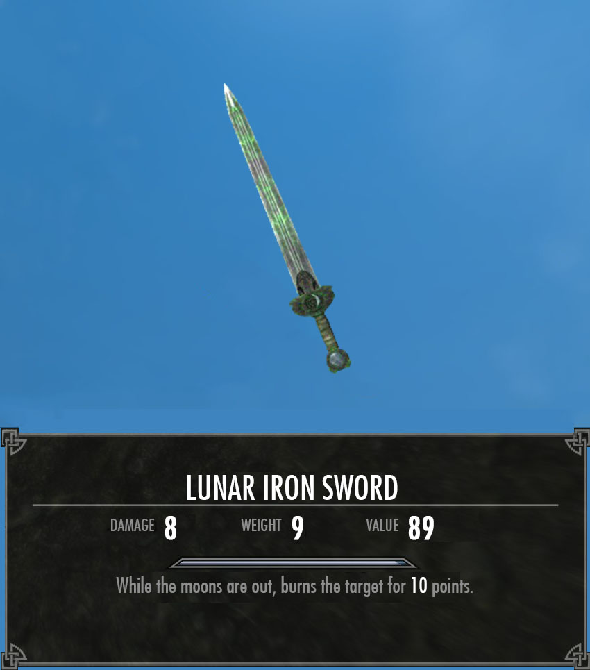 Lunar Iron Sword