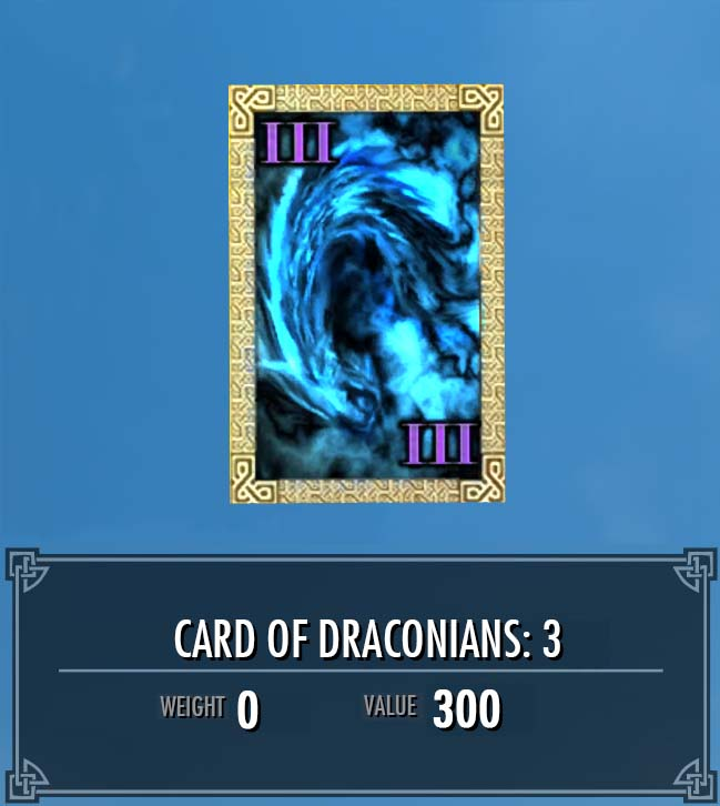 Card of Draconians: 3