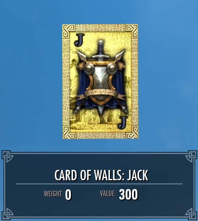 Card of Walls: Jack