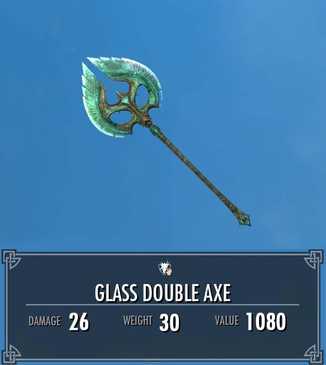 Glass Double Axe