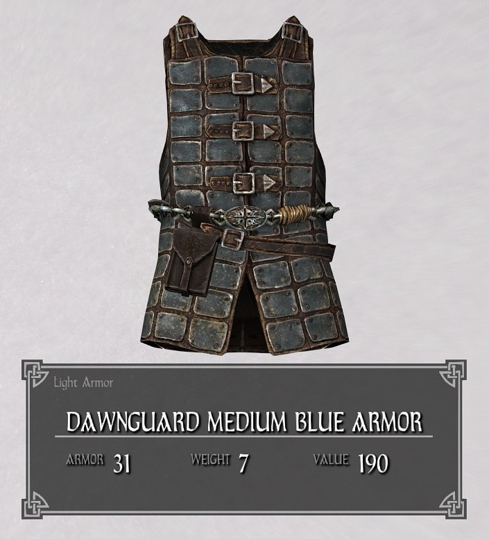 Dawnguard Medium Blue Armor
