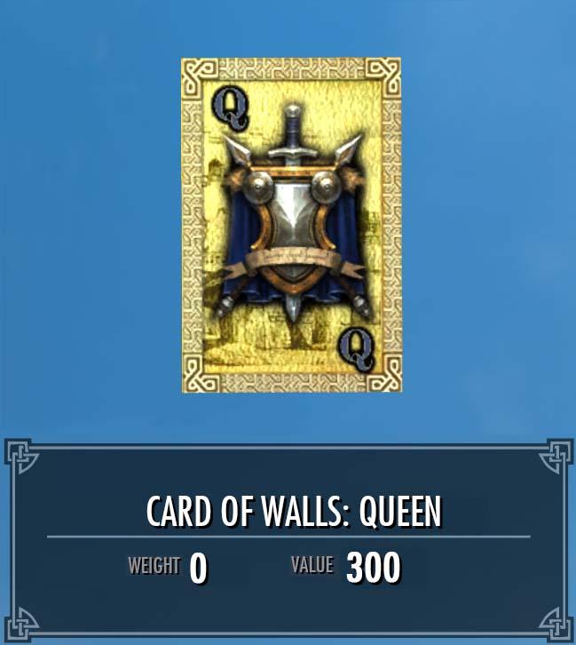 Card of Walls: Queen